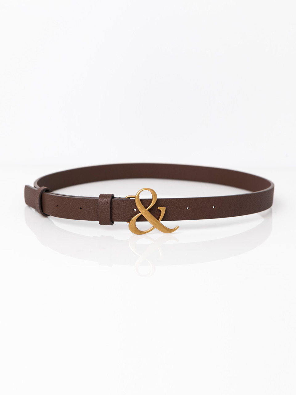 [ABCME5002M] AMPERSAND BUCKLE SLIM BELT_BR